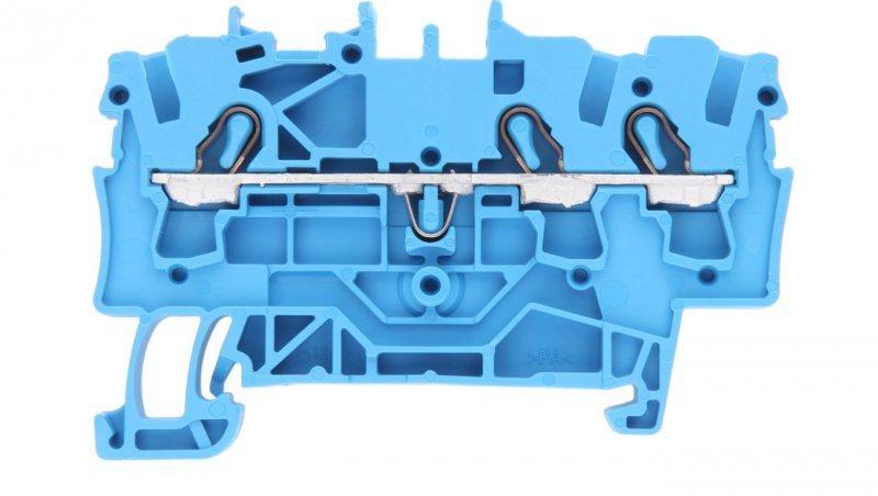 Złączka szynowa 3-przewodowa 2,5mm2 niebieska 2002-1304 TOPJOBS