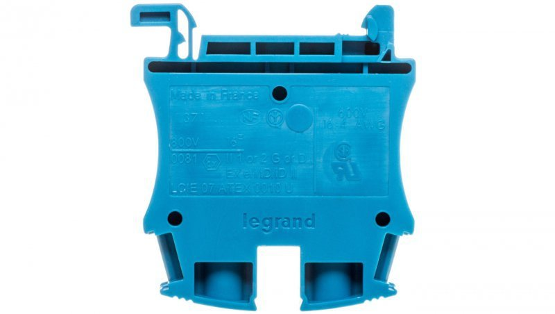 Legrand Złączka szynowa 2-przewodowa 16mm2 niebieska 037104