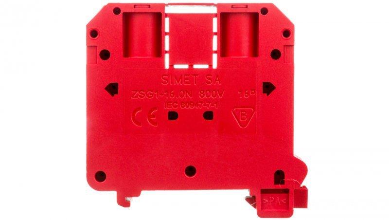 Złączka szynowa 2-przewodowa 16mm2 czerwona NOWA ZSG 1-16.0Nc 11621311