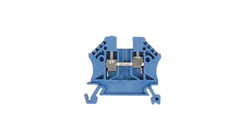 Złączka szynowa 2-przewodowa 2,5mm2 niebieska EURO 43408BL