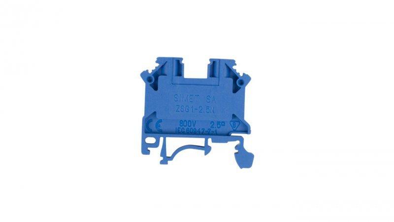Złączka szynowa 2-przewodowa 2,5mm2 niebieska NOWA ZSG 1-2.5Nn 11221313