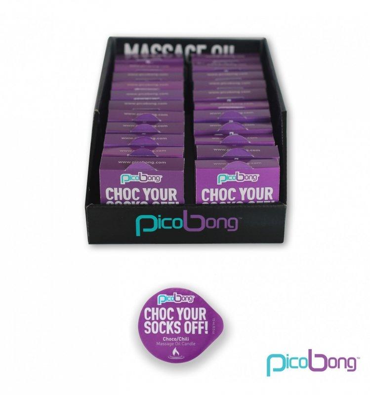 Picobong Świeca do masażu - czekoladowo-chili