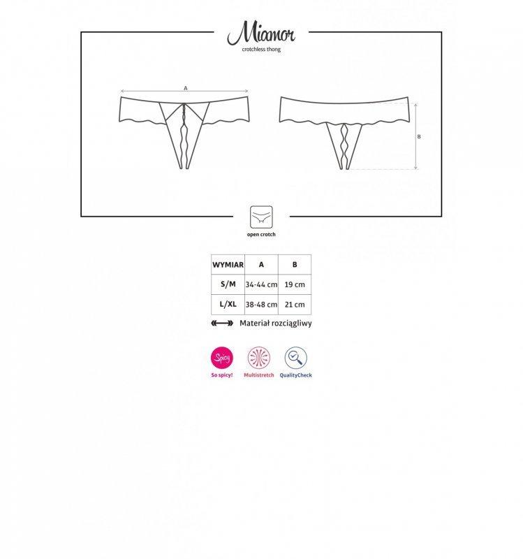 Miamor stringi otwarte L/XL