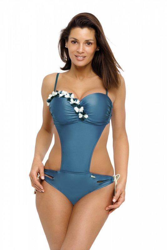 Jednoczęściowy strój kąpielowy Kostium kąpielowy Model Evelyn Camargue M-530 Morski - Marko
