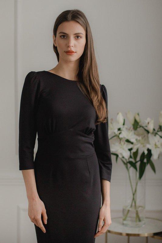 Sukienka L079 Czarny M