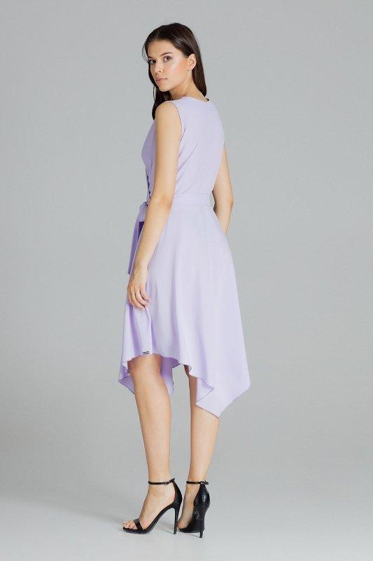 Sukienka L080 Fiolet XL