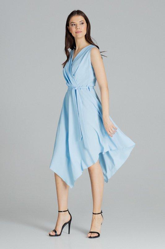 Sukienka L080 Niebieski L