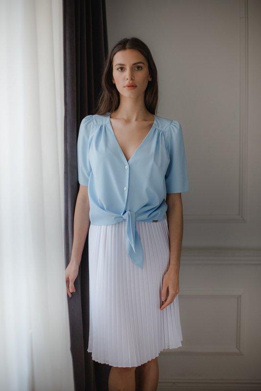 Bluzka L081 Niebieski L