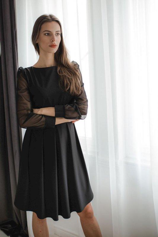 Sukienka L082 Czarny M