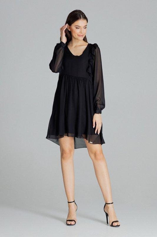 Sukienka L083 Czarny S
