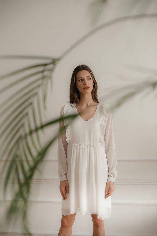 Sukienka L083 Ecru M