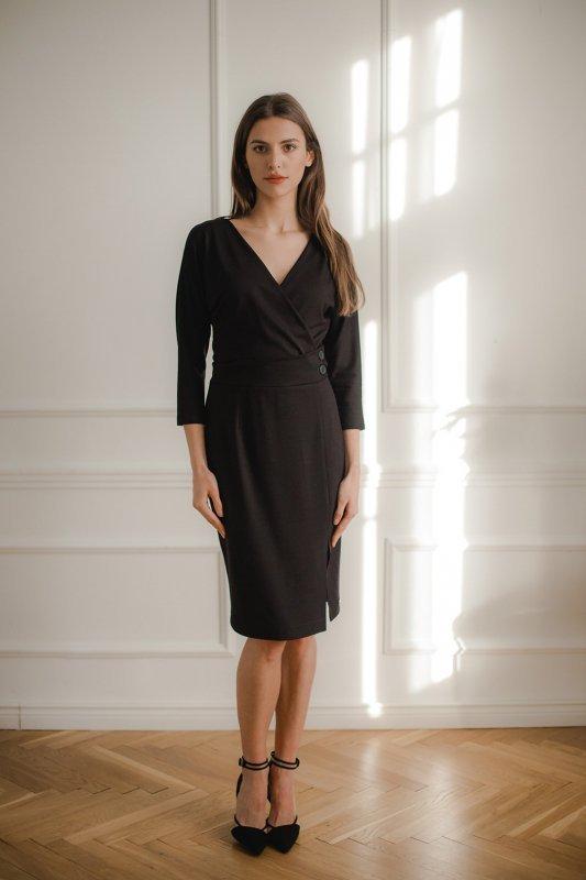 Sukienka L086 Czarny M