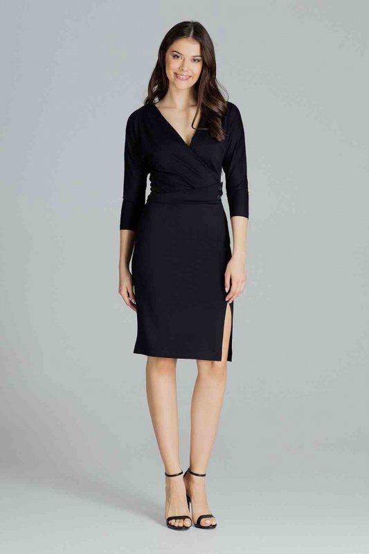 Sukienka L086 Czarny S