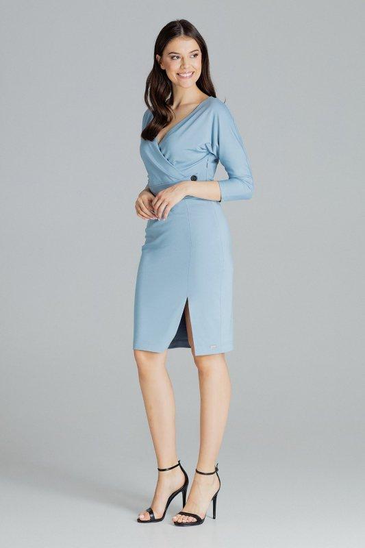 Sukienka L086 Niebieski S