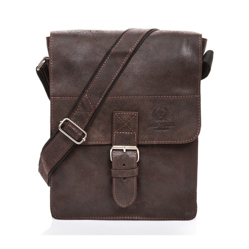 Duża torba skórzana Paolo Peruzzi Vintage raportówka na ramię 3 kolory 006TM-PP