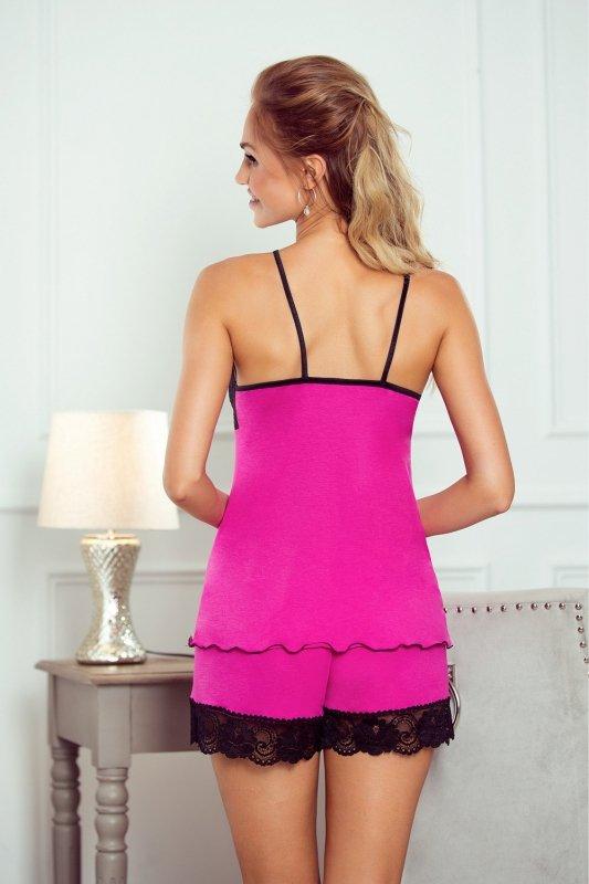 Piżama   Evelin różowy-czarny - Eldar