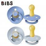 Smoczek Uspokajający kauczuk Hevea -BIBS 2-PACK M SKY BLUE & BABY BLUE