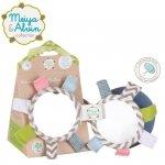 Piłeczka z lusterkiem, grzechotką i kolorowymi metkami - Meiya & Alvin