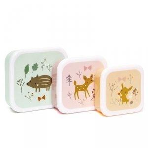Zestaw 3 śniadaniówek lunchbox- Przyjaciele z lasu