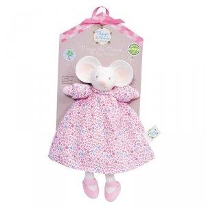 Myszka Meiya Przytulanka w różowej sukience z gryzakiem