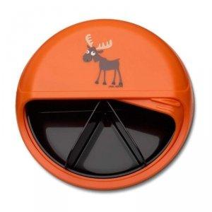 5 komorowy obrotowy pojemnik na przekąski - pomarańczowy Łoś