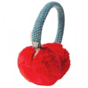 Nauszniki w kolorze czerwonym z futerkiem