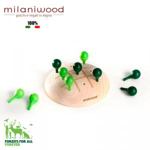Drewniana Gra - zielone drzewa - milaniwood green trees