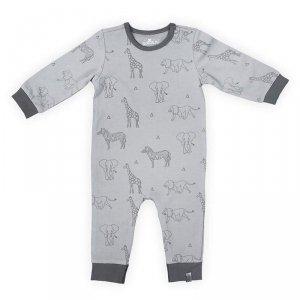 Jollein - Piżamka rozpinana z BIO bawełny organicznej Safari GREY 62/68