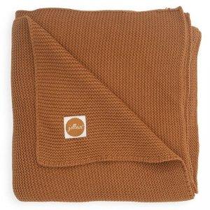 Bawełniany kocyk tkany 75 x 100 cm Basic Knit TOG 1.0 CARAMEL - Jollein