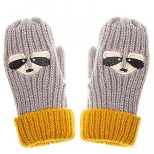 Rękawiczki zimowe dla chłopca Szop Ronnie Racoon 3 - 6 lat - Rockahula Kids