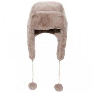 Czapka zimowa dla dzieci futerko Teddy Fur Brown 7 - 10 lat