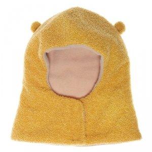 Czapka dla dziecka  zimowa kominiarka rozpinana Billie Bear Boucle Ochre 3 - 6 lat