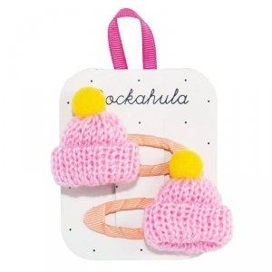 Rockahula Kids - spinki do włosów dla dziewczynki Knitted Bobble Hat