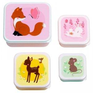 Lśniące Lunchboxy śniadaniówki LEŚNI PRZYJACIELE - A Little Lovely Company - 4 szt.