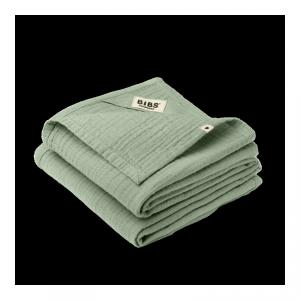 2 pieluszki dla niemowląt 100% GOTS organic cotton 70 x 70 Sage - BIBS