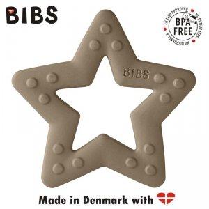 Gryzak dla niemowlaka w kształcie Gwiazdki -  Dark Oak - BIBS BABY BITIE STAR