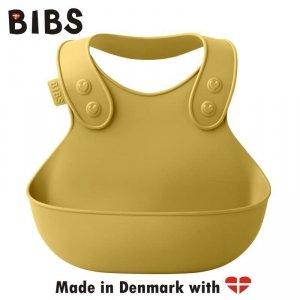 Śliniak silikonowy dla dziecka - BIBS PREMIUM BIB MUSTARD