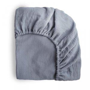 Prześcieradło do łóżeczka dziecka 120 x 60 cm Breathable Cotton Tradewinds - Mushie