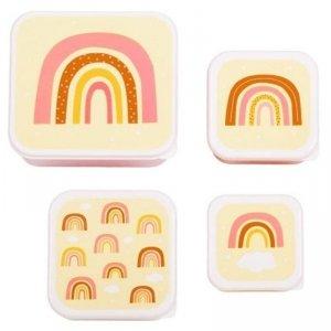 Lunchboxy śniadaniówki dla dzieci - Tęcza - 4 szt.