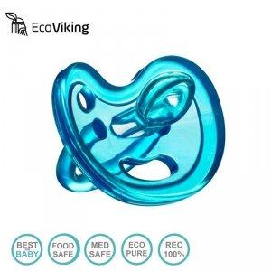 Eco Viking Anatomiczny Smoczek Uspokajający SiliMed Blue wiek 6m+