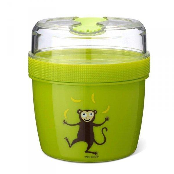 Pojemnik śniadaniowy z wkładem chłodzący Lime - Małpka
