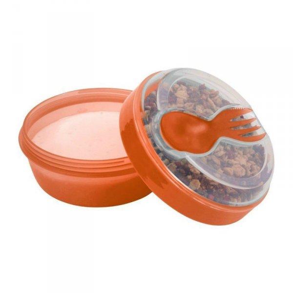 Pojemnik śniadaniowy z wkładem chłodzący - pomarańczowy