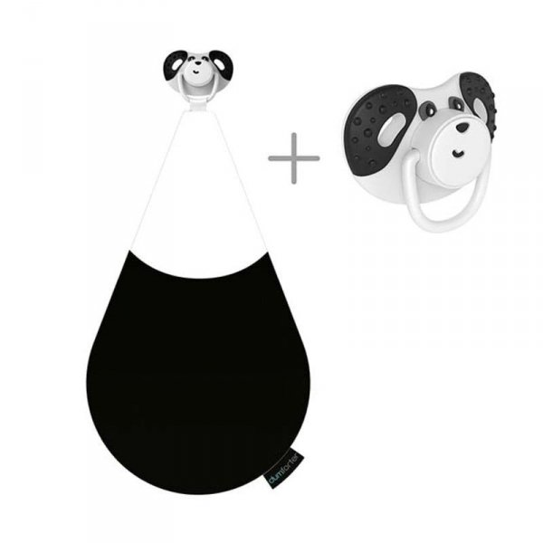 3 w 1 smoczek z gryzakiem + kocyk przytulanka -  Panda Pepper