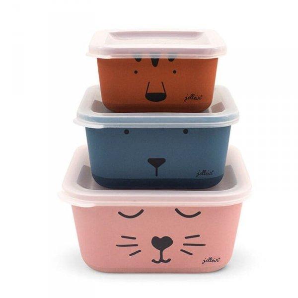 3 śniadaniówki EKO Lunchbox - Zwierzęcy klub