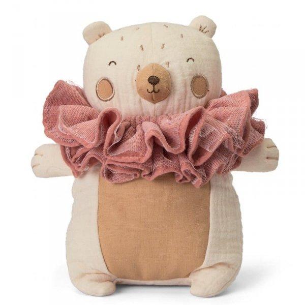 Przytulanka dla dziecka Pani Miś w ozdobnym kołnierzu 20 cm - Picca LouLou