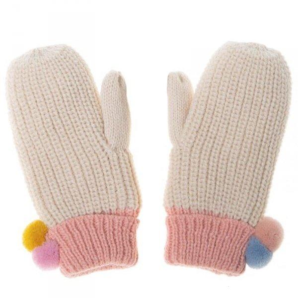 Rockahula Kids - rękawiczki zimowe Dreamy Rainbow Knit Bobble 3 - 6 lat