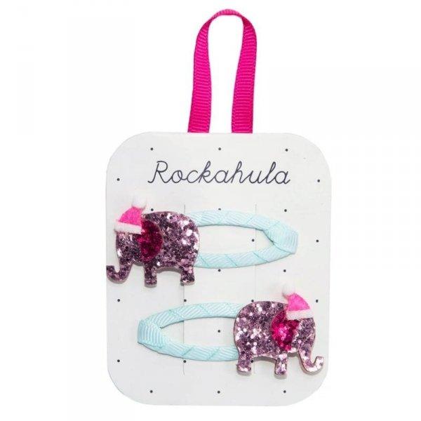 Rockahula Kids - spinki do włosów dla dziewczynki Santa Elephant