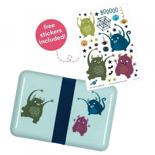 Śniadaniówka dla dziecka Lunchbox Potworki z naklejkami - A Little Lovely Company