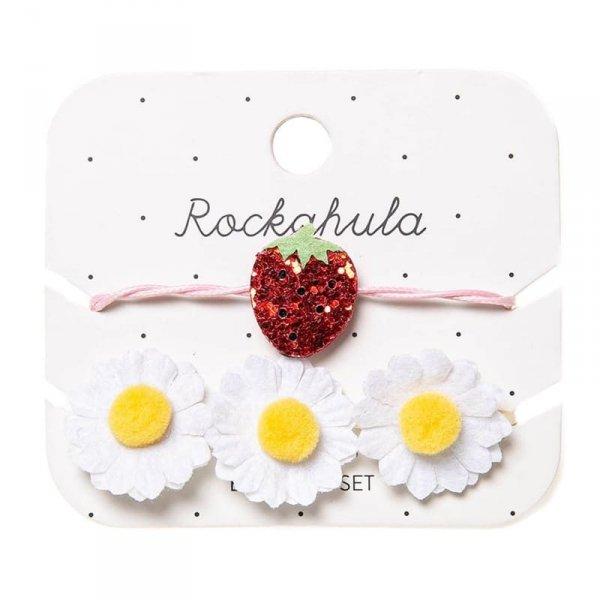 2 bransoletki dla dziewczynki - Truskawka i Kwiaty - Rockahula Kids
