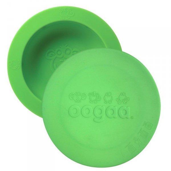 oogaa Green Bowl & Lid silikonowa miseczka z pokrywką